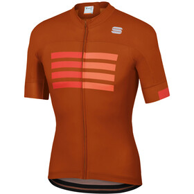 Sportful Wire Maillot de cyclisme Homme, sienna fire red orange sdr